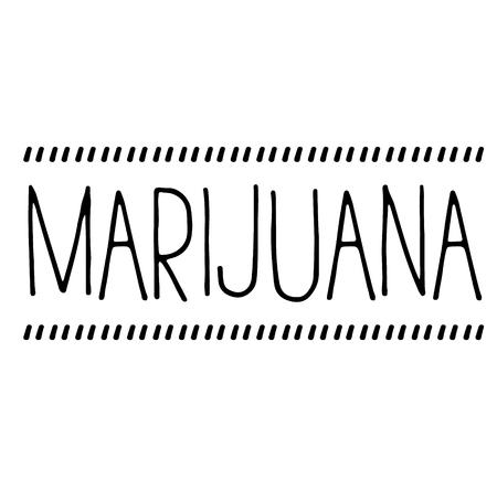 marijuana stamp on white Stock Vector - 118890000