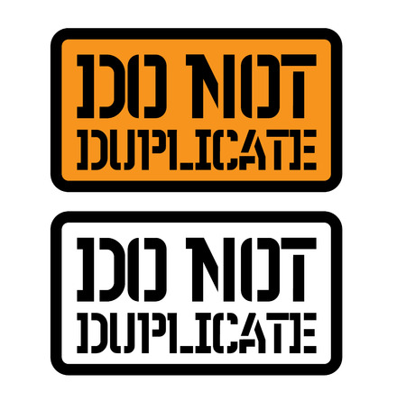 do not duplicate stamp on white