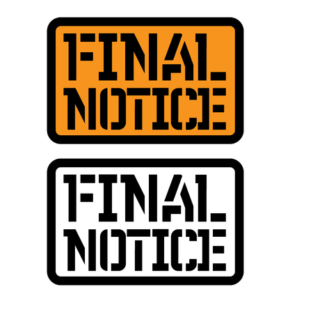 final notice stamp on white Illustration