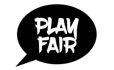 play fair stamp on white background. Sign, label, sticker 일러스트