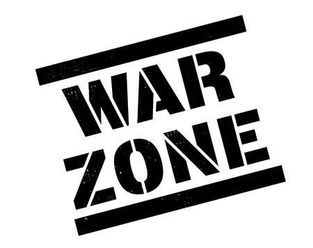 war zone stamp on white Vecteurs