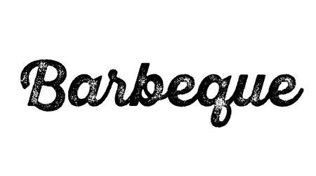 barbeque stamp on white background. Sign, label sticker Vetores