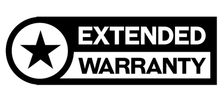 extended warranty stamp on white