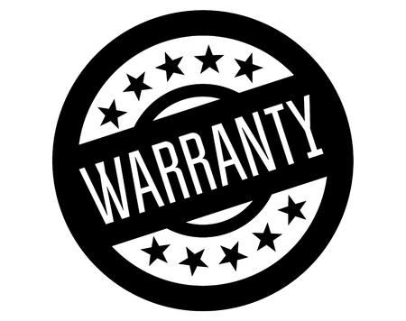 warranty stamp on white background. Sign, label sticker