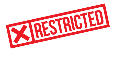 restricted stamp on white background. Sign, label sticker