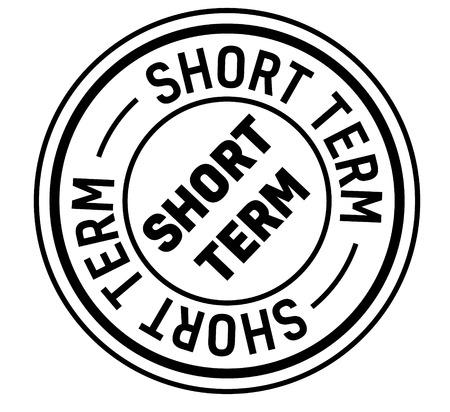 short term stamp on white background. Sign, label, sticker Vetores