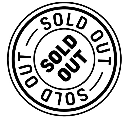 sold out stamp on white background. Sign, label, sticker