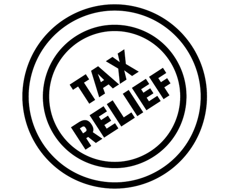 tax relief stamp on white background. Sign, label, sticker 일러스트