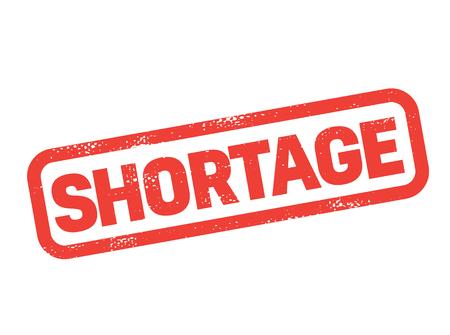 shortage stamp on white