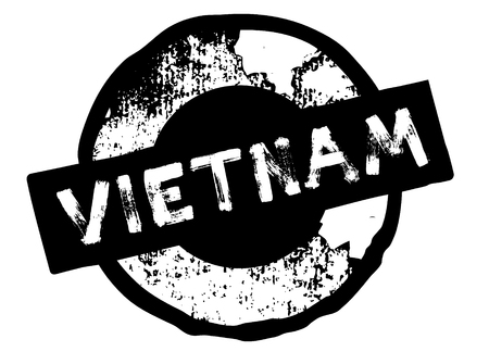 vietnam stamp on white Illustration