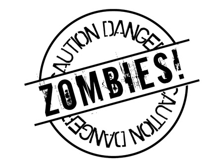 zombies stamp on white