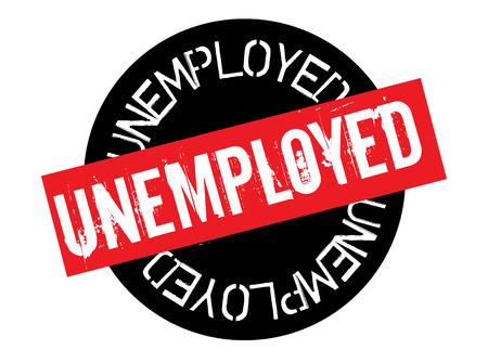 unemployed stamp on white background. Sign, label sticker