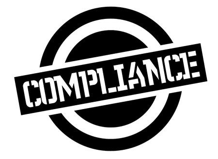 compliance stamp on white background. Sign, label sticker