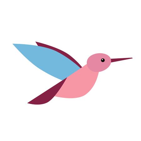 little bird flat illustration. Forest animals creatures series. Ilustração Vetorial