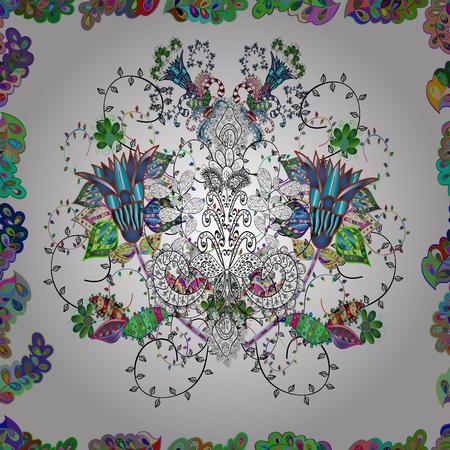 Beautiful watercolor Bouquet of summer flowers seamless pattern.