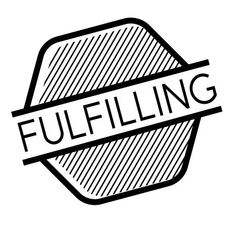 Fulfilling black stamp on white background . Label sticker Ilustrace