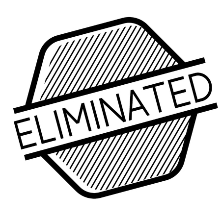 Eliminated stamp on white