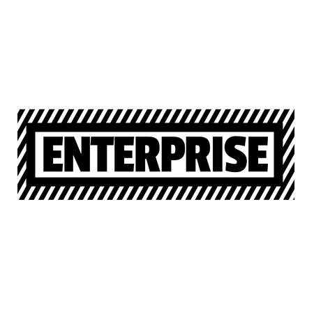 Enterprise black stamp on white background . Label sticker Illustration
