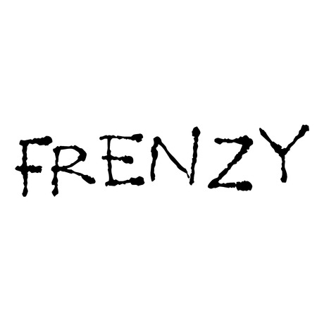 frenzy stamp on white Çizim