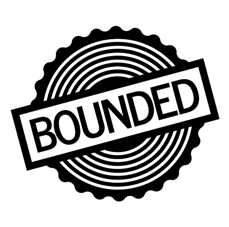 Bounded black stamp on white background . Label sticker