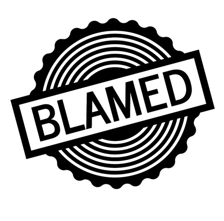 Blamed black stamp on white background . Label sticker