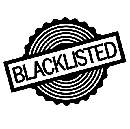 Blacklisted stamp on white