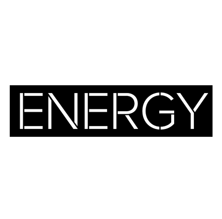 Energy black stamp on white background . Label sticker