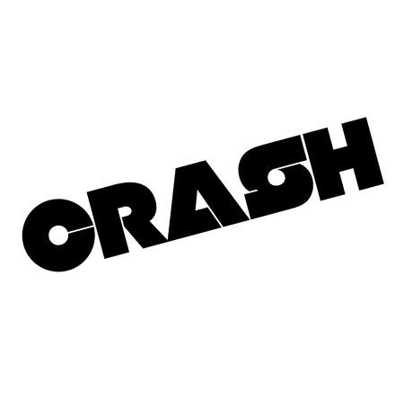 Crash black stamp on white background . Label sticker