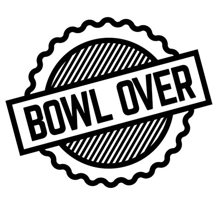 Bowl over black stamp on white background . Label sticker