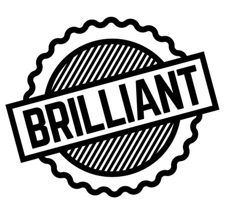 Brilliant black stamp on white background . Label sticker Vector Illustration