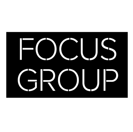 Focus group black stamp on white background . Label sticker 일러스트