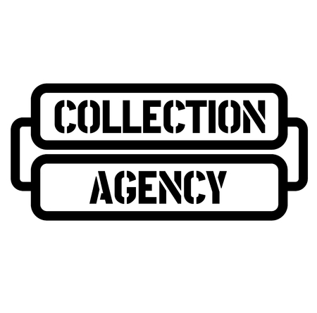 collection agency stamp Stock Illustratie