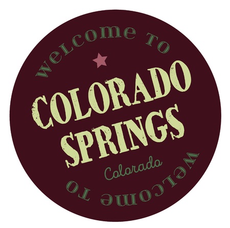 Welcome to Colorado Springs Colorado Illustration
