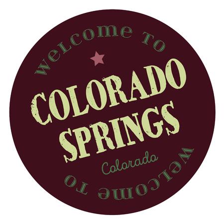 Welcome to Colorado Springs Colorado Stock Vector - 118956270