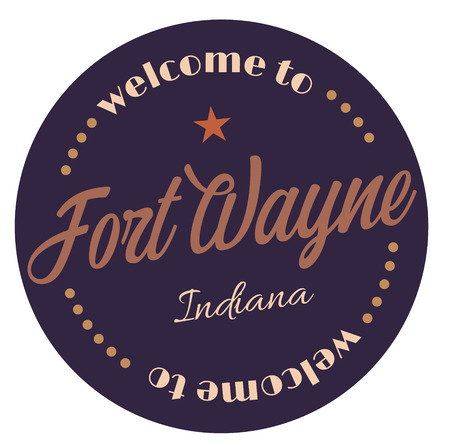 Welcome to Fort Wayne Indiana Illustration