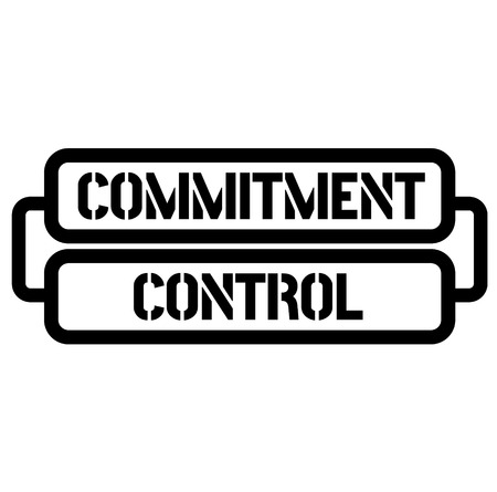 commitment control stamp 向量圖像