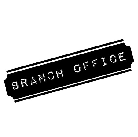 branch office black stamp, sticker, label, on white background