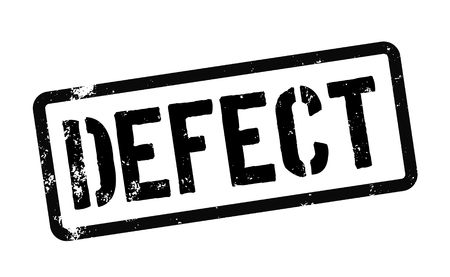 defect stamp on white