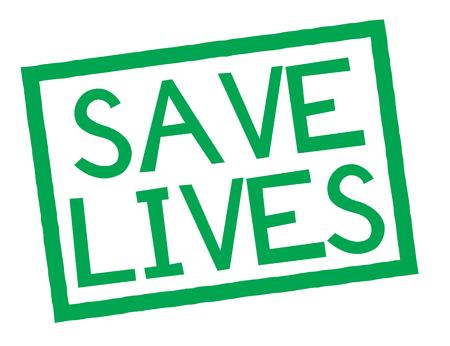 save lives stamp on white background. Sign, label, sticker Vektoros illusztráció
