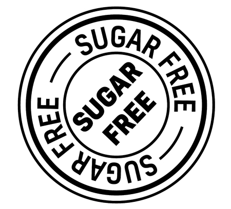 sugar free stamp on white background. Sign, label, sticker Ilustrace