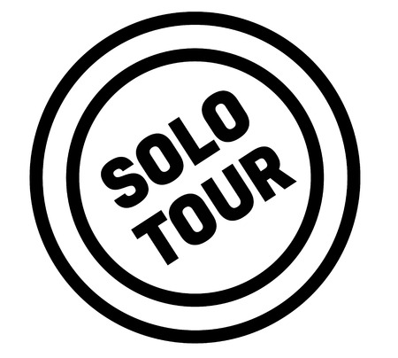 solo tour stamp on white background. Sign, label, sticker Illustration