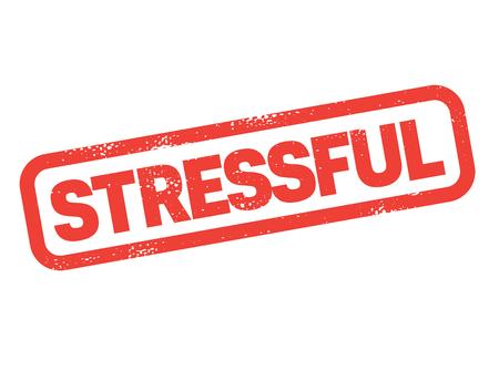 stressful stamp on white background. Sign, label sticker Illustration