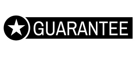 guarantee stamp on white background. Sign, label sticker