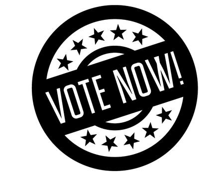 vote now stamp on white background. Sign, label, sticker 일러스트