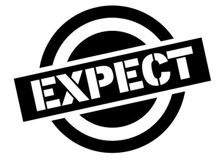 expect stamp on white background. Sign, label sticker Illustration