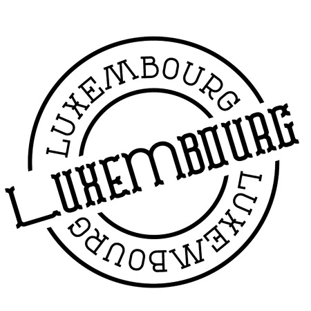 luxembourg stamp on white