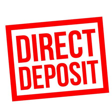 Direct Deposit stamp Illustration