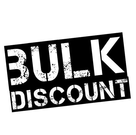 bulk discount stamp on white background. Sign, label, sticker
