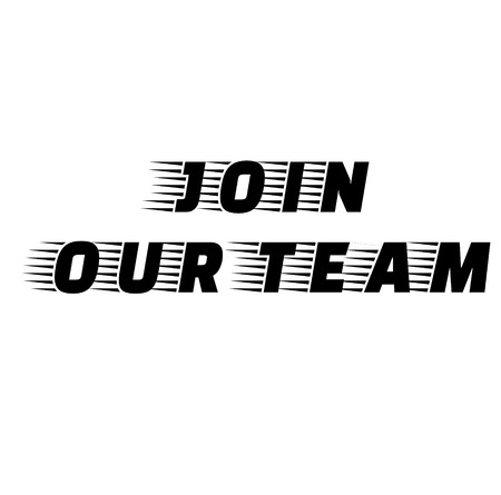 Join Our Team stamp on white background