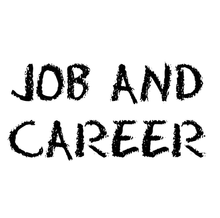 Job And Career stamp on white background Vectores
